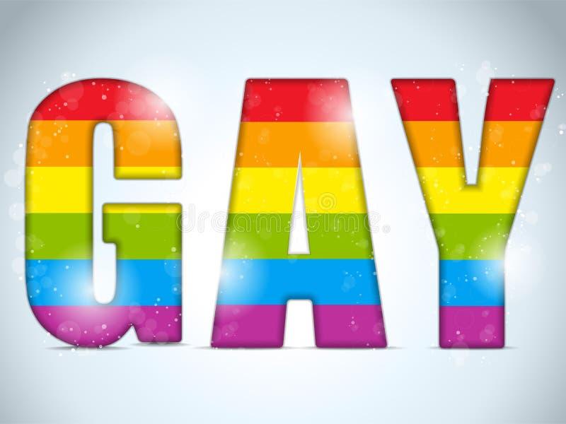 Etiqueta engomada rayada del círculo gay de la bandera libre illustration