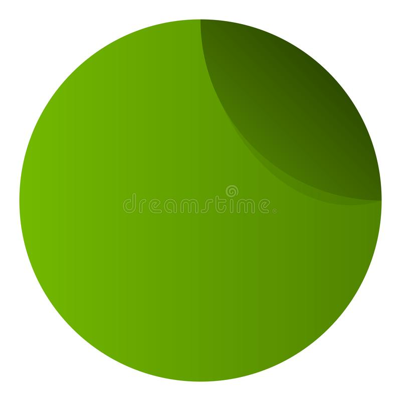 Etiqueta engomada simple, plantilla del botón con efecto de la cáscara libre illustration