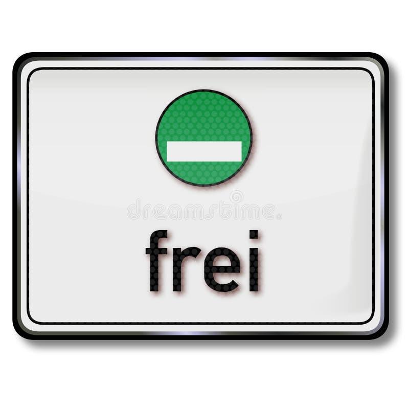 Etiqueta engomada verde de las emisiones libre illustration