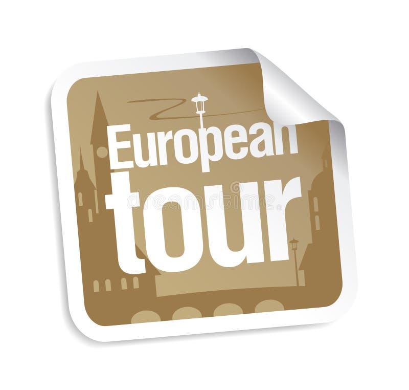 Etiqueta européia da excursão ilustração do vetor