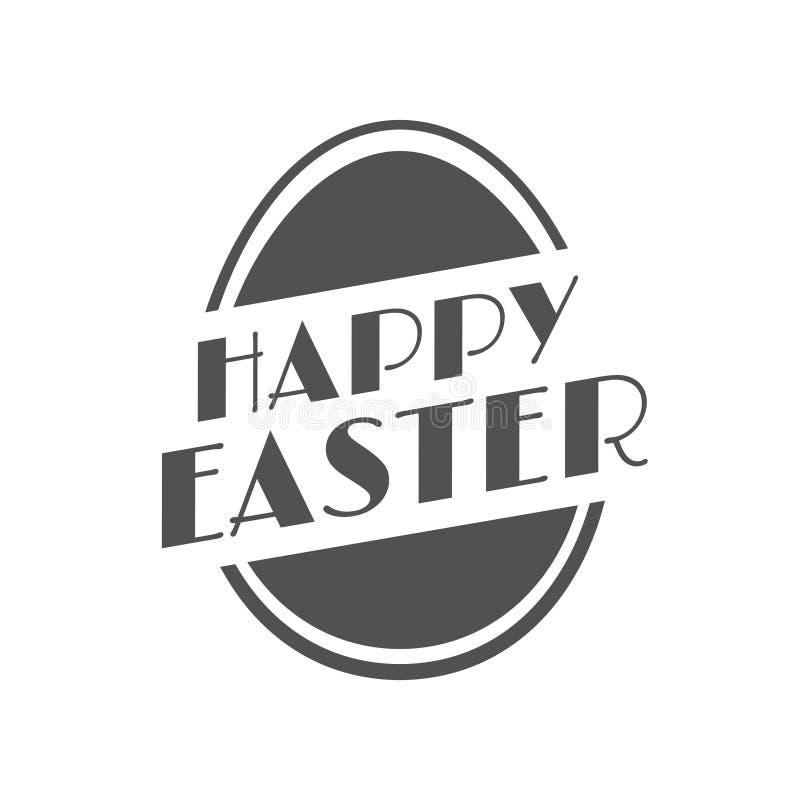 Etiqueta festiva do vintage feliz da Páscoa ilustração stock