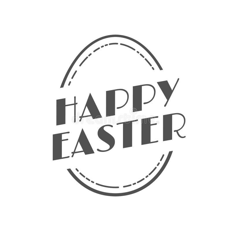 Etiqueta festiva do vintage feliz da Páscoa ilustração do vetor