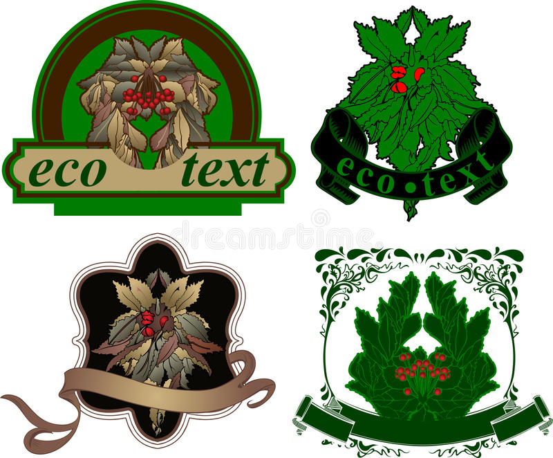 Etiqueta floral de duas naturezas. ilustração royalty free