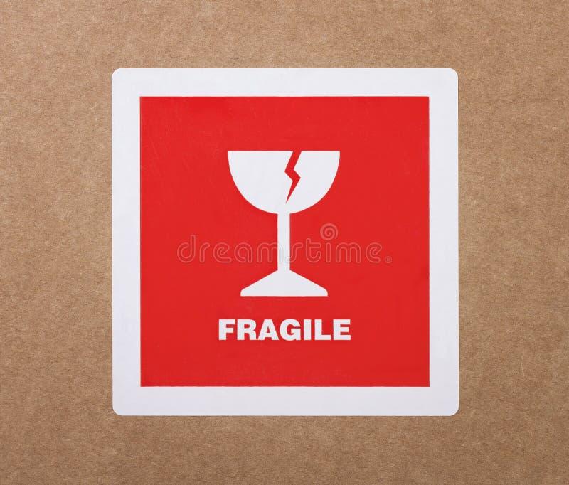 Etiqueta frágil foto de stock