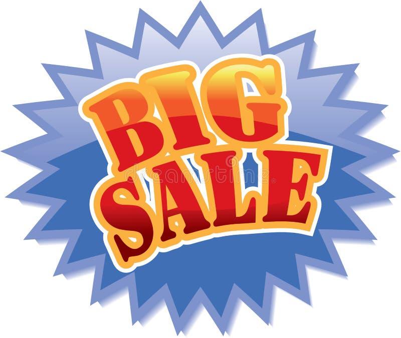 Etiqueta grande da venda ilustração royalty free