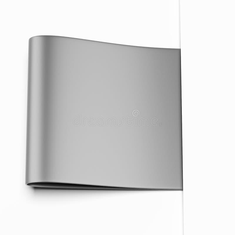 Etiqueta gris ilustración del vector