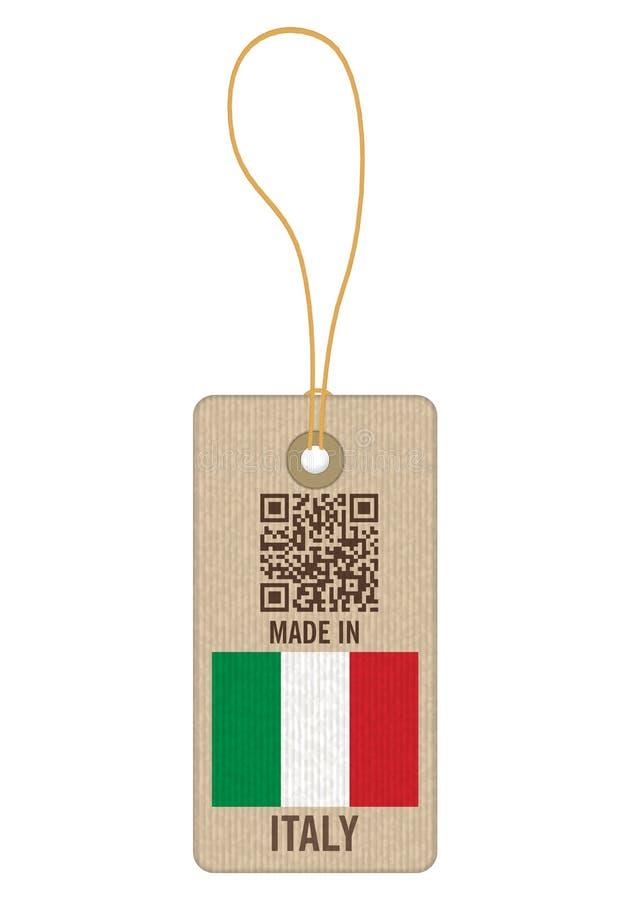 Etiqueta hecha en Italia ilustración del vector