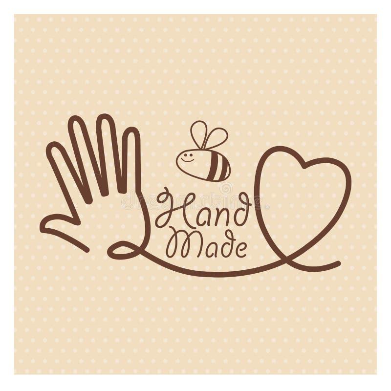 Etiqueta hecha a mano taller hecho a mano de los artes for Hecho a mano