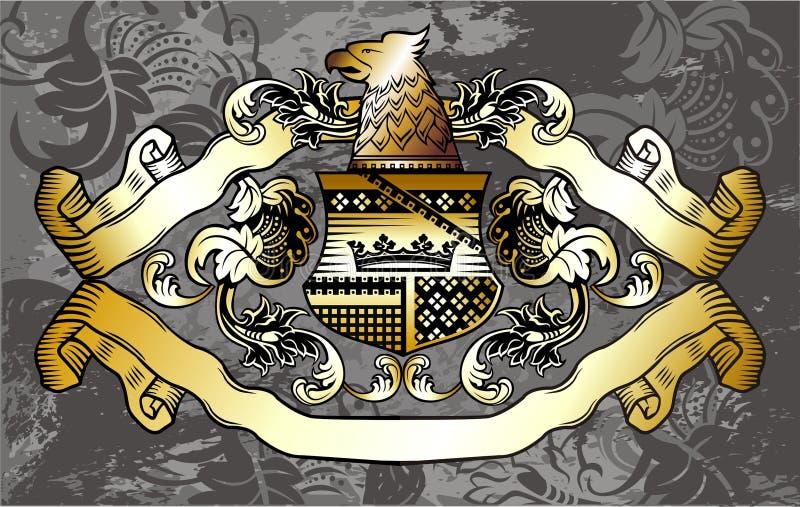 Etiqueta heráldica ilustração royalty free