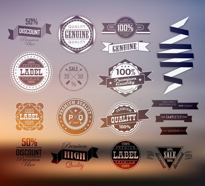 Etiqueta/icono superiores y de alta calidad stock de ilustración