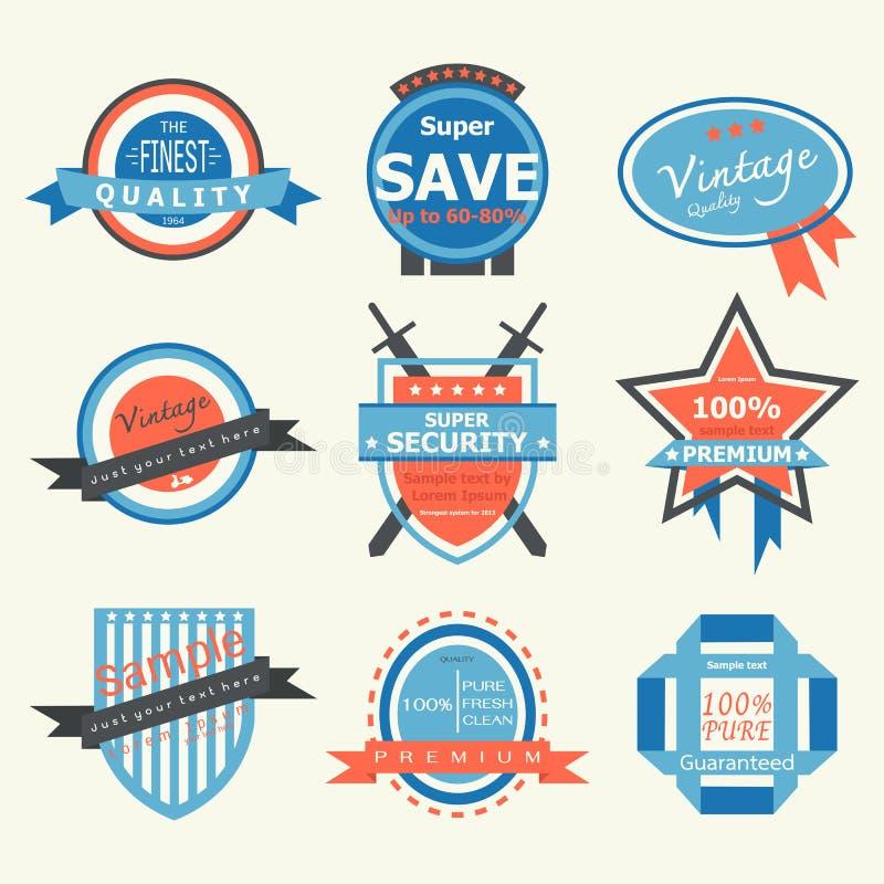 Etiqueta-insignia del vintage ilustración del vector