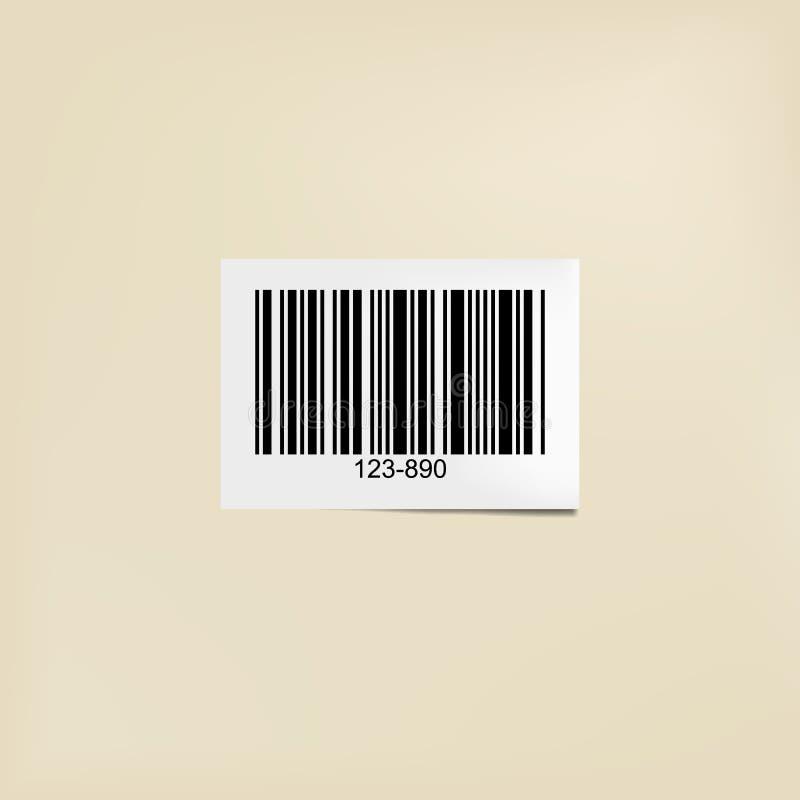 Etiqueta legible por la máquina del código de barras libre illustration