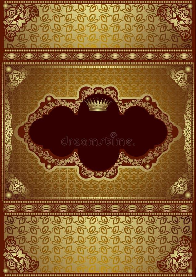 Etiqueta luxuosa do fundo da bandeira do ouro ilustração do vetor