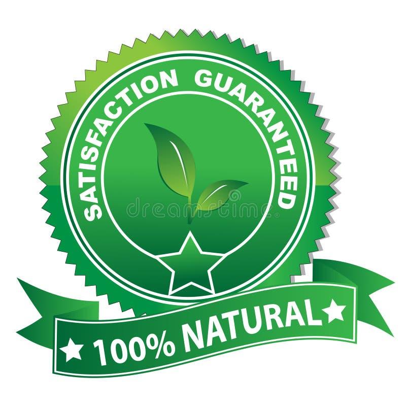 Etiqueta natural ilustração do vetor