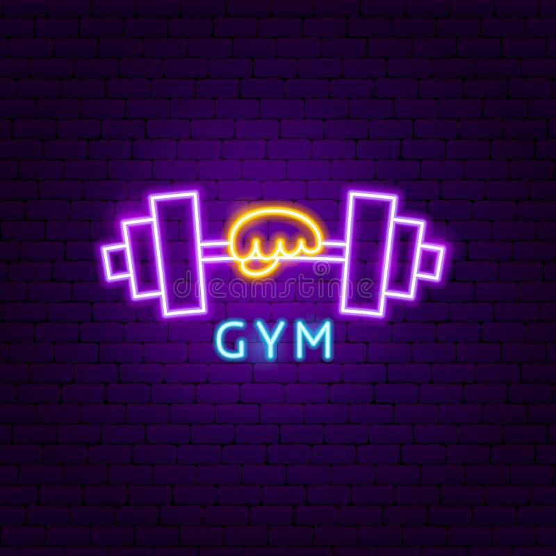 Etiqueta Neon Gym ilustración del vector