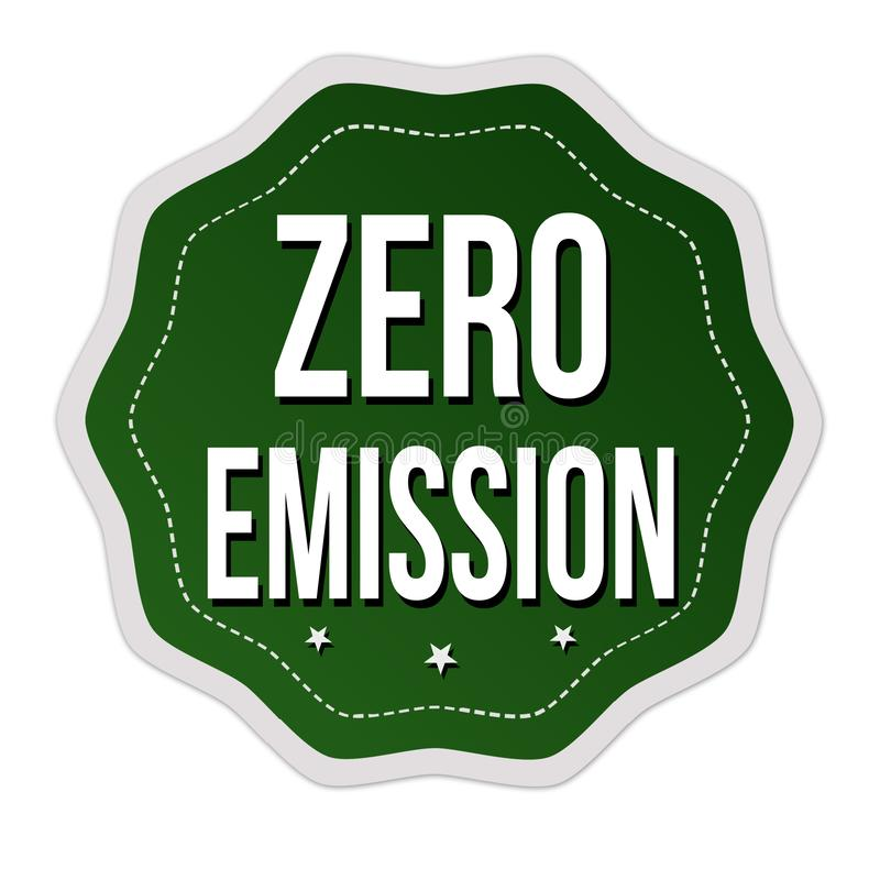 Etiqueta o etiqueta engomada cero de la emisión stock de ilustración