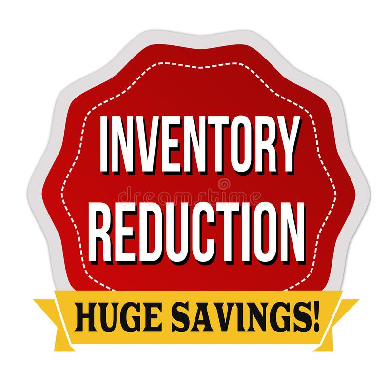 Etiqueta o etiqueta engomada de la reducción del inventario libre illustration