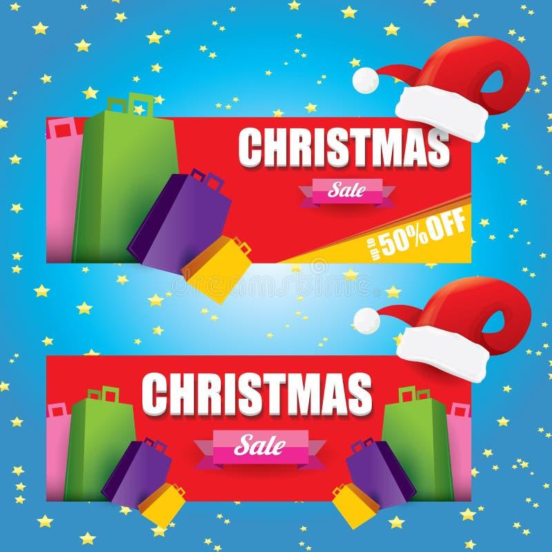 Etiqueta o etiqueta de las ventas de la Navidad del vector libre illustration