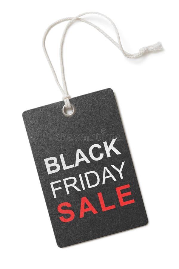 Etiqueta o etiqueta negra de la venta de viernes aislada imagen de archivo