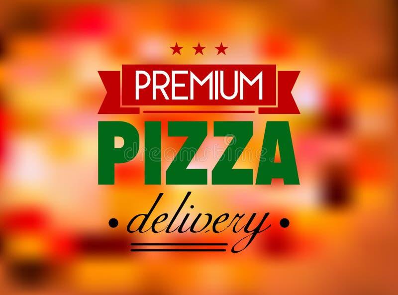 Etiqueta o logotipo italiana del restaurante de la pizza stock de ilustración