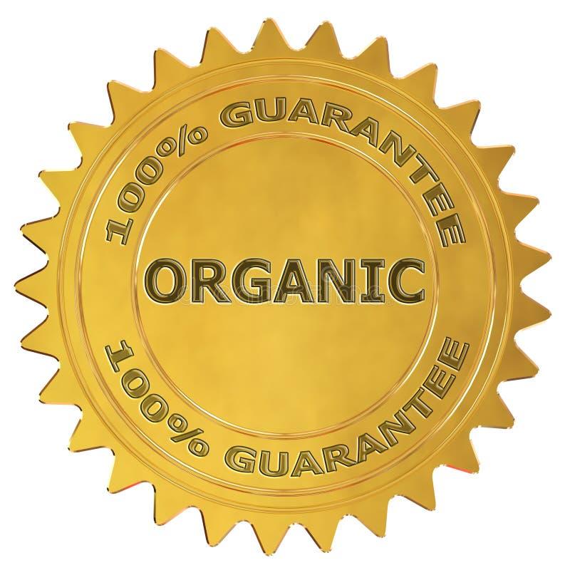 Etiqueta orgânica da garantia ilustração royalty free