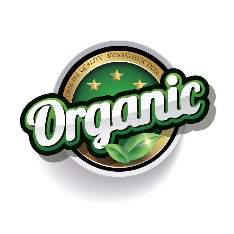 Um vetor de cem por cento orgânico ilustração stock