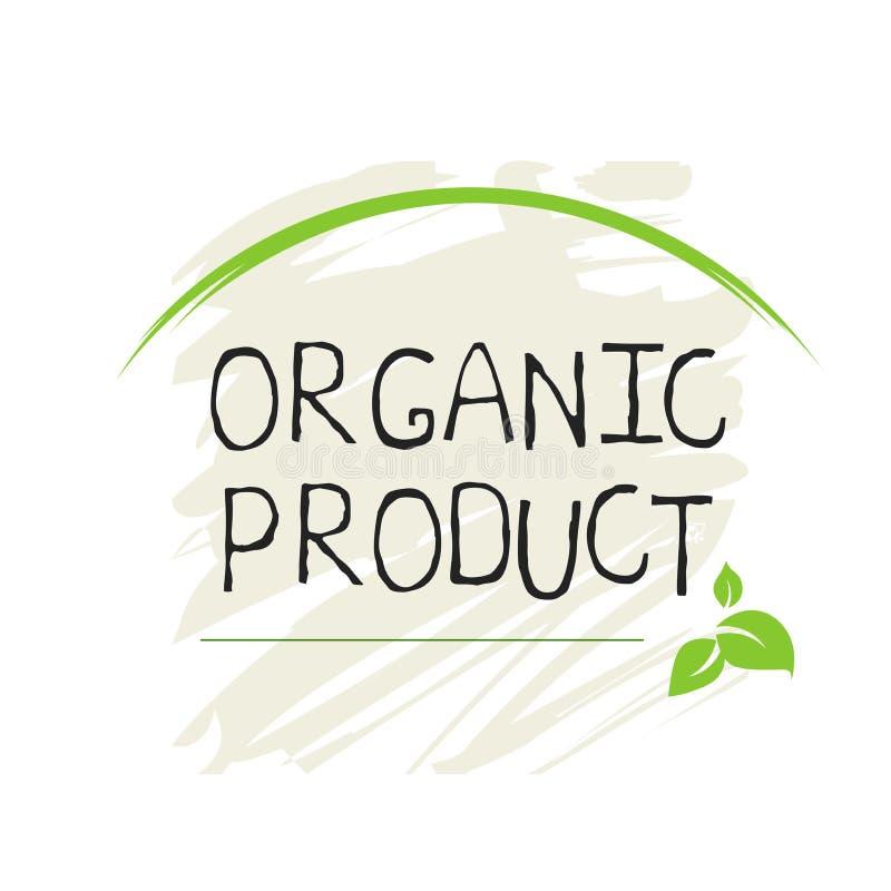 Etiqueta org?nica do produto e crach?s de alta qualidade do produto ?cone do produto org?nico, bio e natural do bio alimento saud ilustração stock