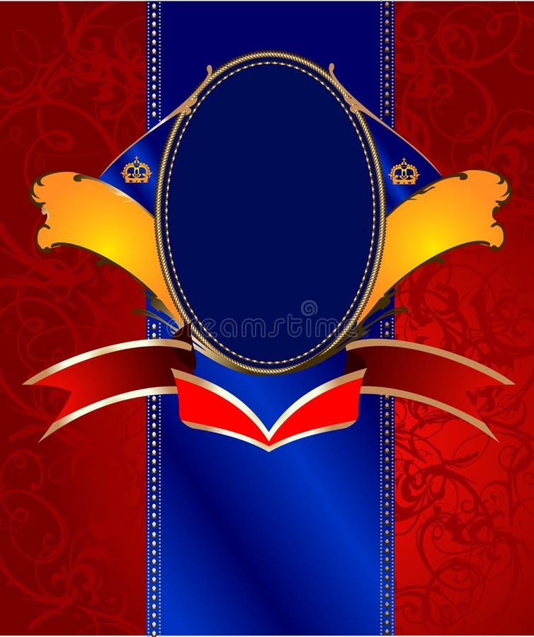 Etiqueta ornamentado ilustração do vetor