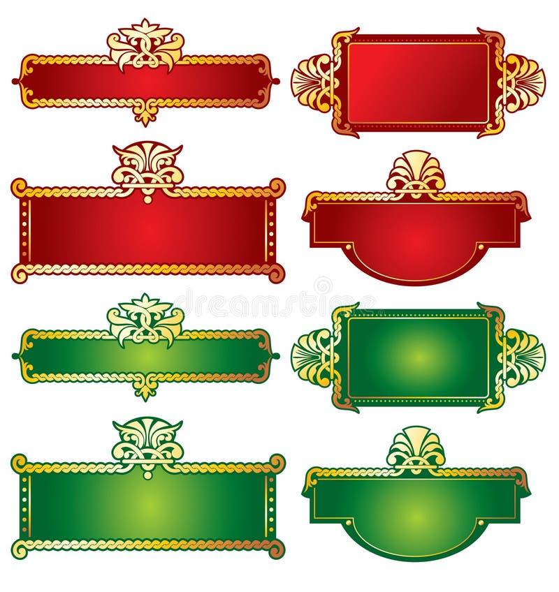 Etiqueta ornamentado rica. Vetor, editable ilustração royalty free