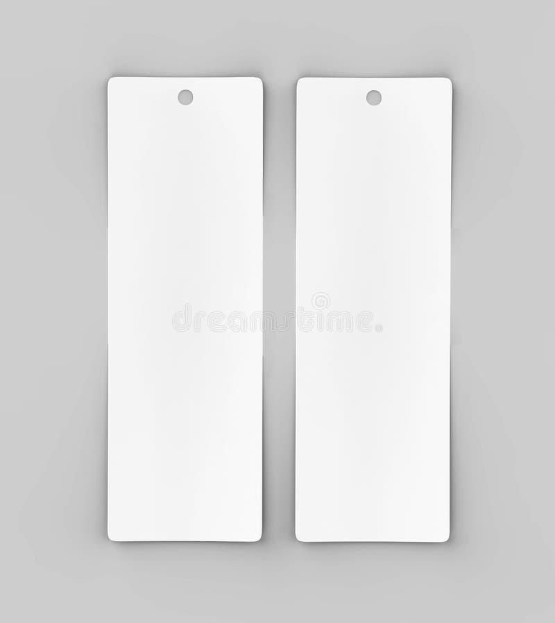 Etiqueta ou etiqueta e marcador vazios brancos ilustração stock