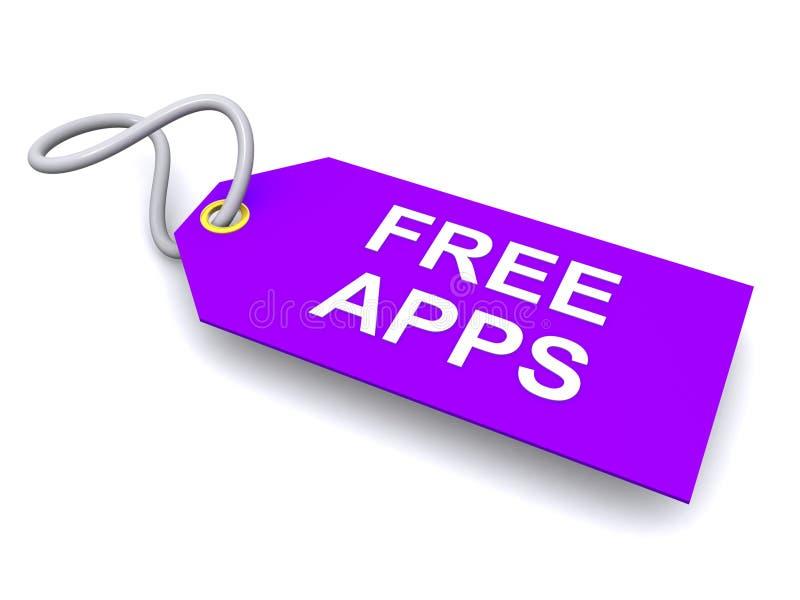 Etiqueta ou etiqueta livre dos apps ilustração royalty free