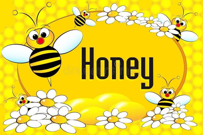 Etiqueta ou folheto do potenciômetro do mel ilustração do vetor