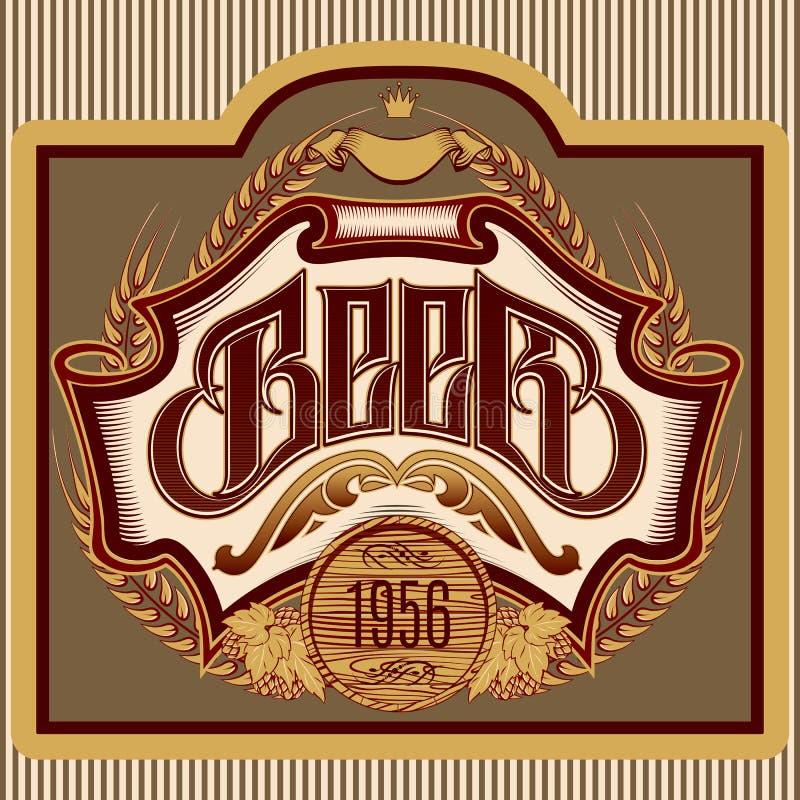 Download Etiqueta Oval Con La Inscripción Del Ornamento Para La Cerveza Ilustración del Vector - Ilustración de frío, cerveza: 41918777