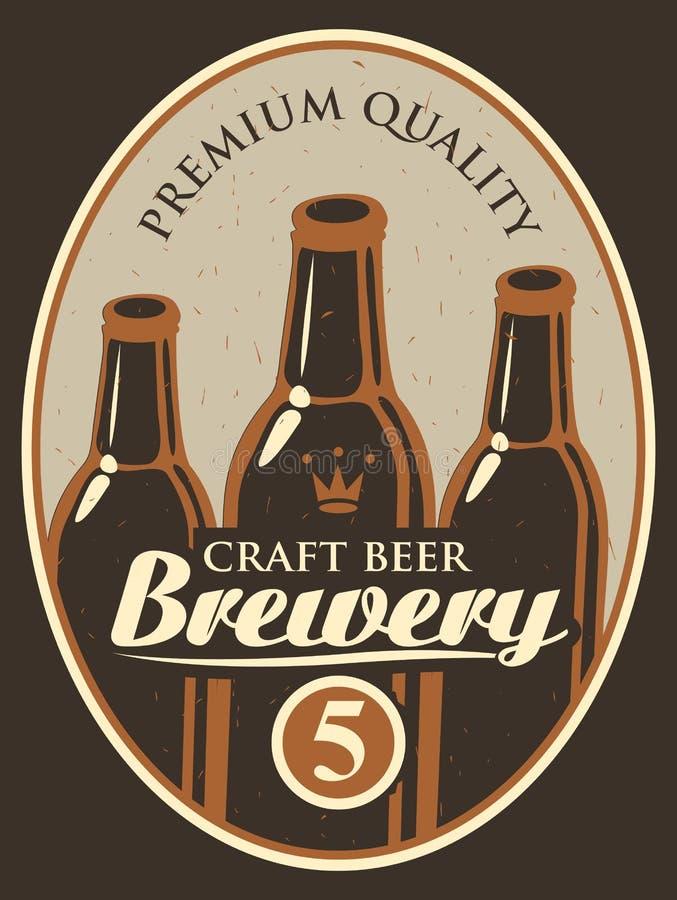 Etiqueta para a cerveja ilustração royalty free