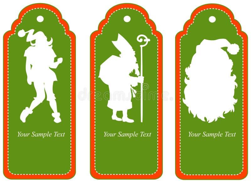 Etiqueta para o Natal. ilustração stock