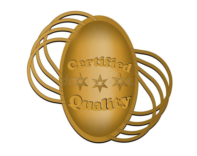 Etiqueta para a qualidade certificada ilustração stock