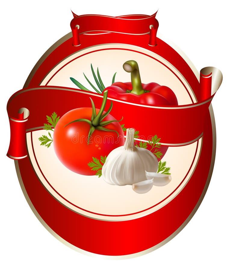 Download Etiqueta Para Um Produto (ketchup, Molho) Com Photorea Ilustração do Vetor - Ilustração de ilustração, parsley: 12800740