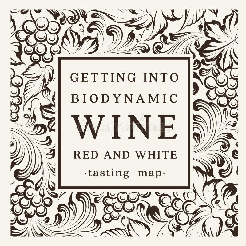 Etiqueta para una botella de vino ilustración del vector