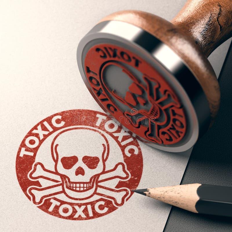 Etiqueta peligrosa y tóxica del producto fotografía de archivo libre de regalías
