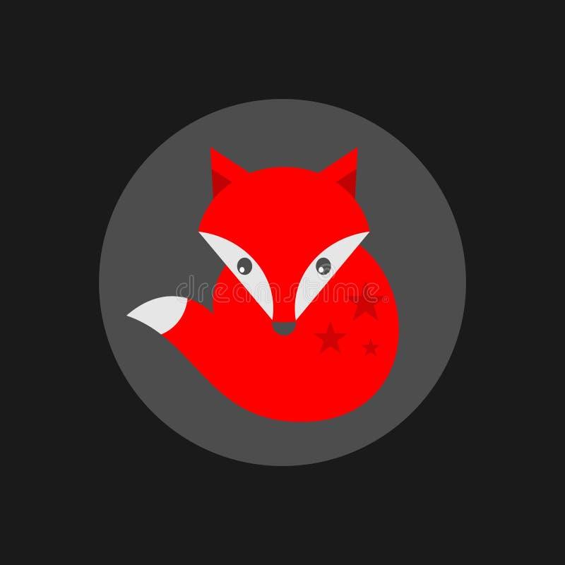 Etiqueta pequena bonito da raposa. ilustração stock
