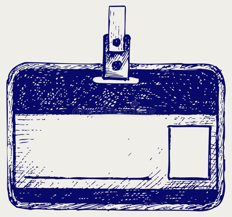 Etiqueta plástica do nome ilustração stock