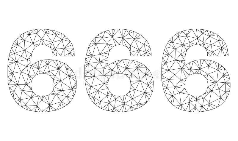 Etiqueta poligonal del texto de la res muerta 666 libre illustration