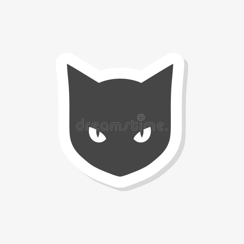 Etiqueta preta de Cat Logo ilustração royalty free