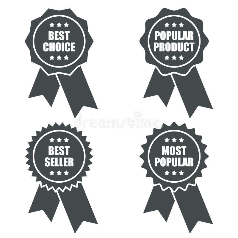 Etiqueta promocional del producto popular ilustración del vector