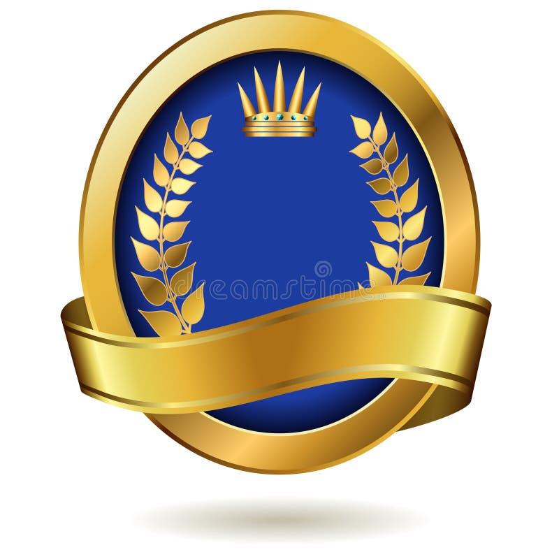 Etiqueta real dourada ilustração do vetor