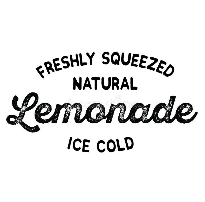 Etiqueta recientemente exprimida de la limonada ilustración del vector
