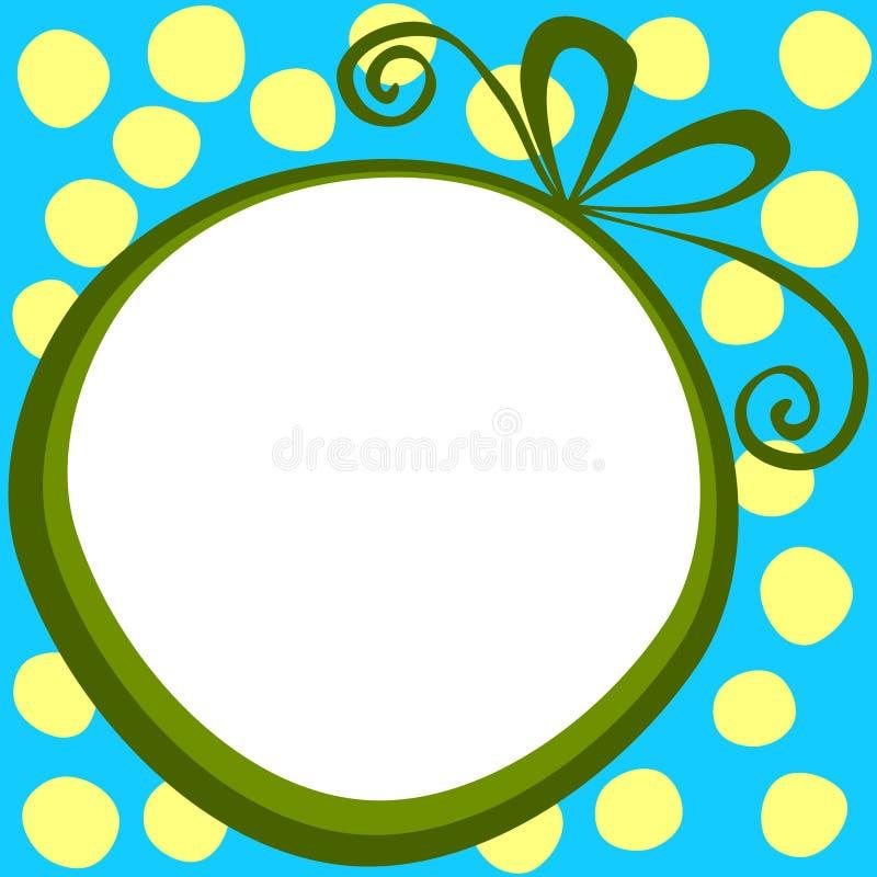 Etiqueta redonda del regalo de la Navidad del marco de caja de regalo libre illustration