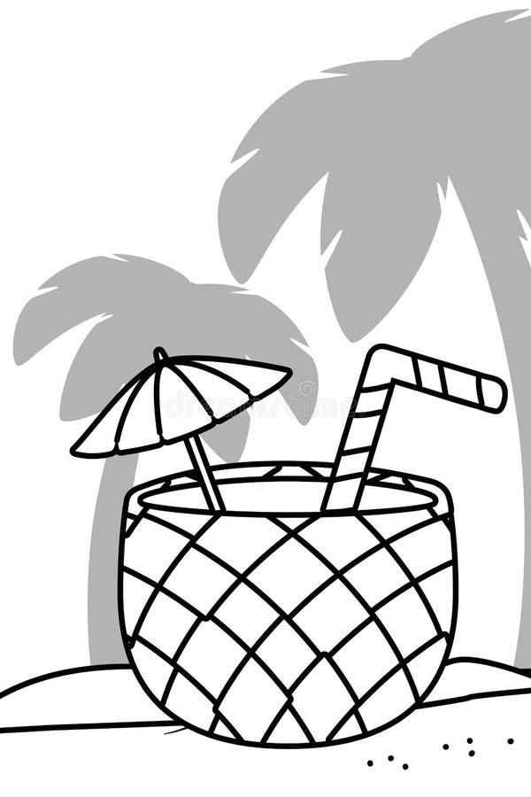 Paisagem Tropical Preto E Branco Ilustracoes Vetores E Clipart De