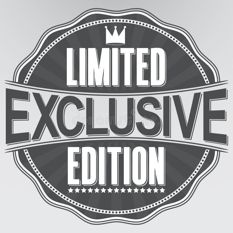 Etiqueta retro exclusiva da edição limitada, vetor ilustração stock