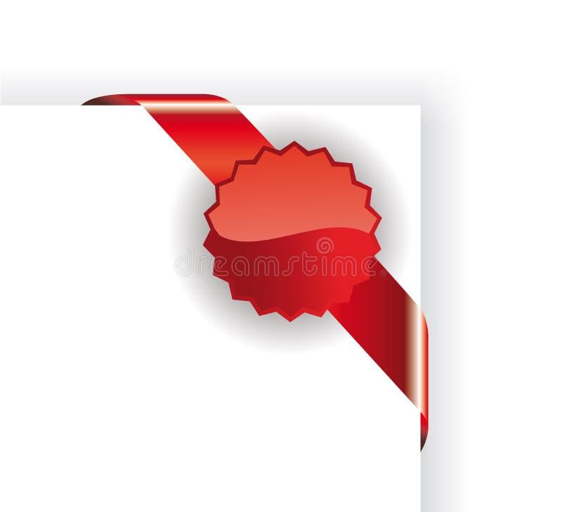 Etiqueta roja de las ventas libre illustration